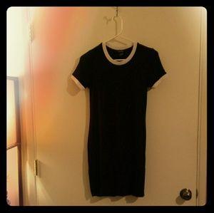 Black and White t shirt bodycon dress